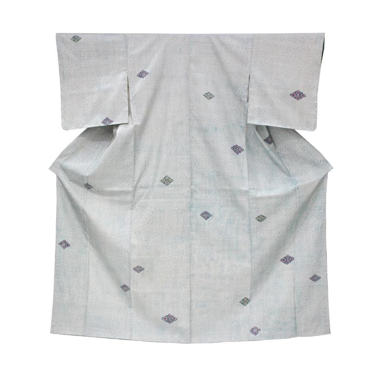 大島紬にローケツ染小紋小紋着物