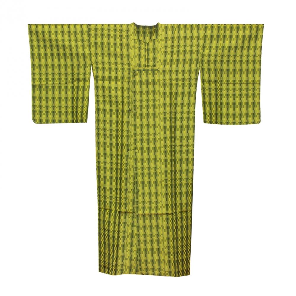 6グリーン雨ゴート(西陣織絹)