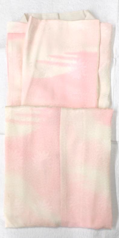 7ピンク長襦袢絹